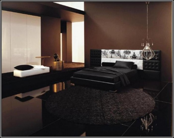 Black Bedroom Furniture With Brown Walls