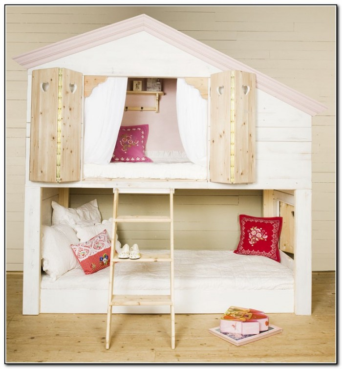 Bunk Bed Desk For Girls Beds Home Design Ideas