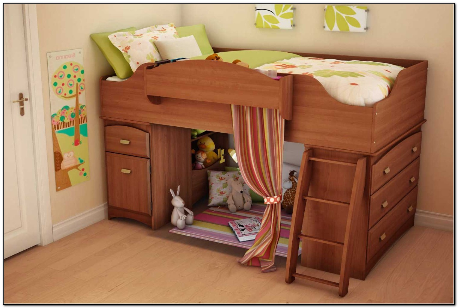 Cheap bunk beds with storage download page home design for Cheap bunk bed ideas