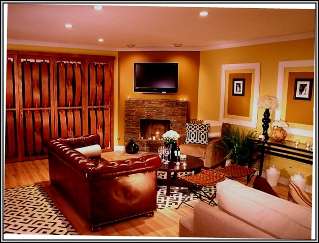 Family Room Furniture Arrangement With Fireplace And Tv