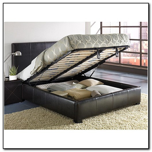Full size bed frame with storage underneath beds home Full bed frame with storage