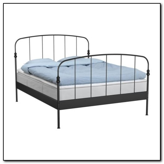 metal bed frame ikea beds home design ideas 5onex8bp1d2970. Black Bedroom Furniture Sets. Home Design Ideas
