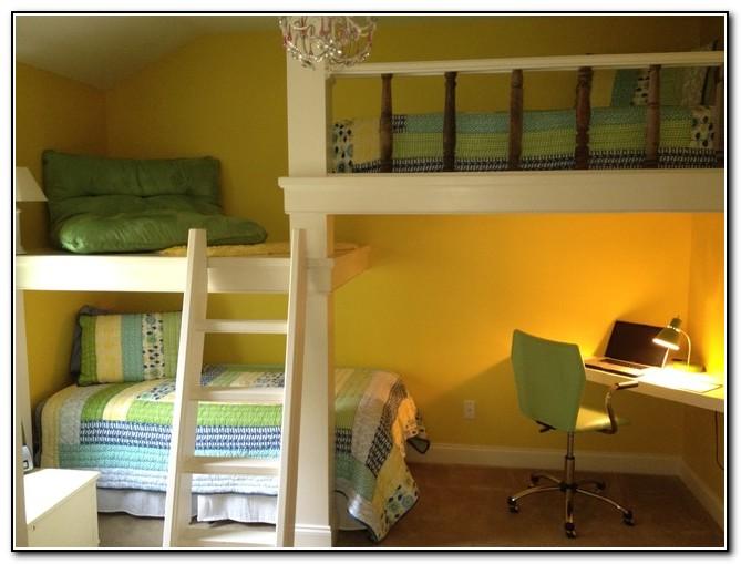 Kids Bunk Beds With Desk Underneath Beds Home Design