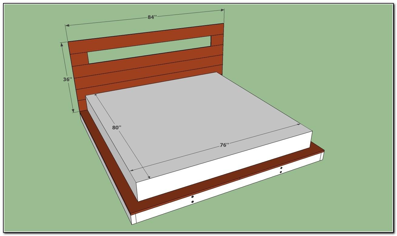 King platform bed plans beds home design ideas for King bed design plans