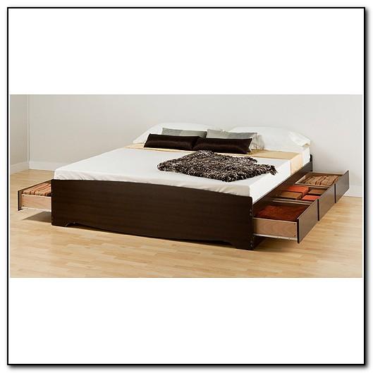 King Platform Bed Storage