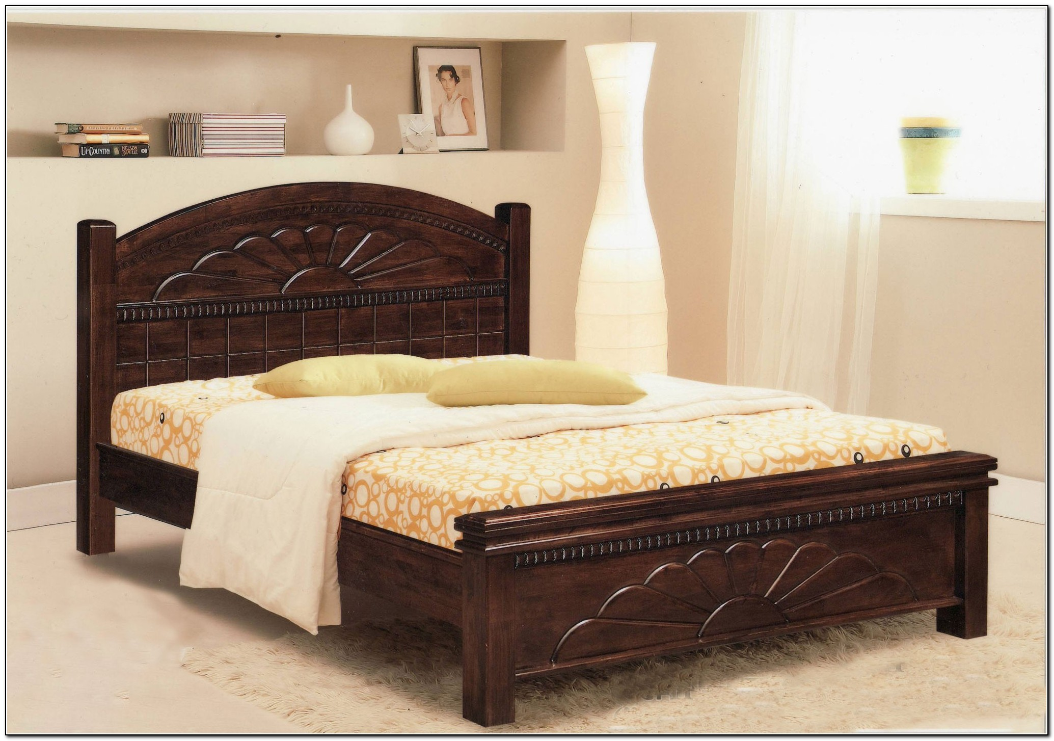 King size bed frame wood beds home design ideas for King size bed designs