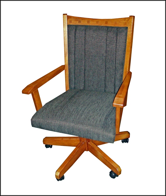 Oak Dining Chairs With Casters