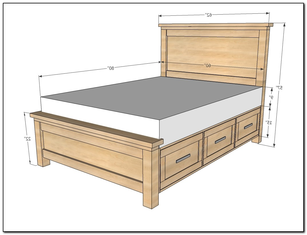queen bed frame with drawers plans beds home design