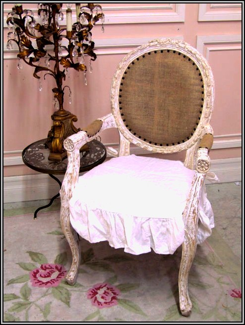 shabby chic dining room chair covers | White Shabby Chic Desk Chair - Desk : Home Design Ideas ...