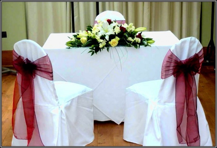 Wedding Chair Covers With Bows
