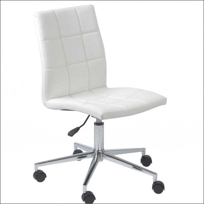 White Desk Chair No Wheels