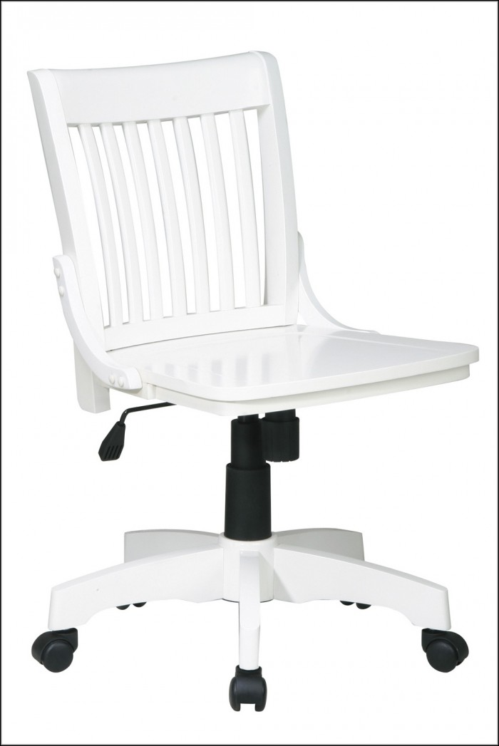 Wooden White Desk Chair