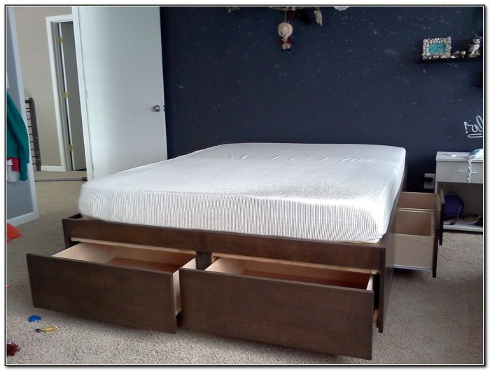 Bed With Drawers Underneath Plans