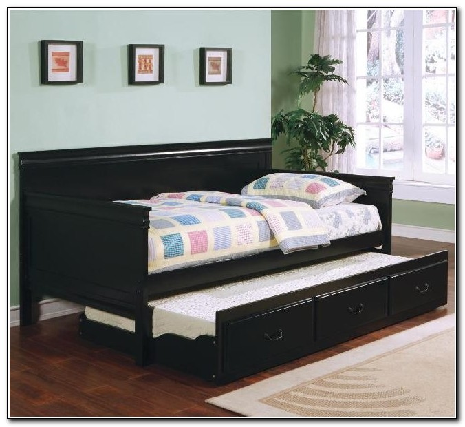 black trundle bed day bed with trundle beds home design ideas 10870
