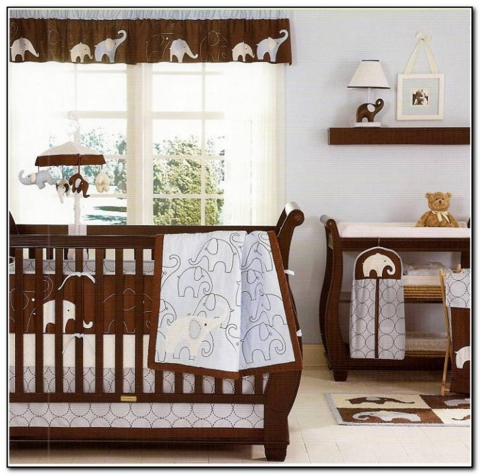 Boy Crib Bedding Elephant