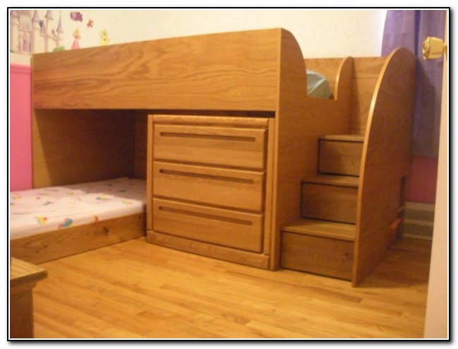 Bunk Bed With Stairs And Dresser