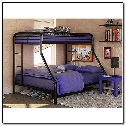 Walmart Twin Full Bunk Bed White