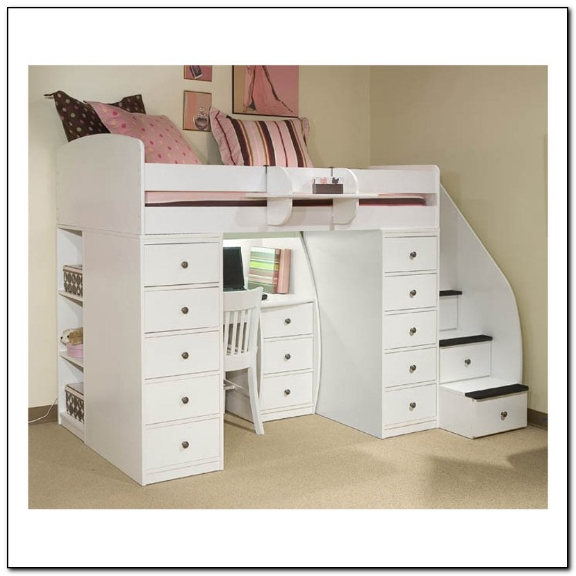 Bunk Beds With Desk And Stairs Beds Home Design Ideas
