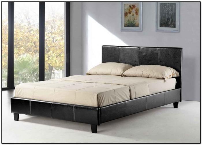 Queen size platform bed frame cheap beds home design for Cheap queen platform bed