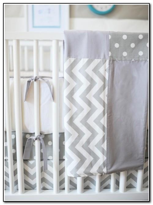 Chevron Baby Bedding Grey