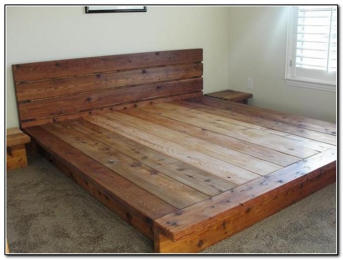 Diy Platform Bed Rustic