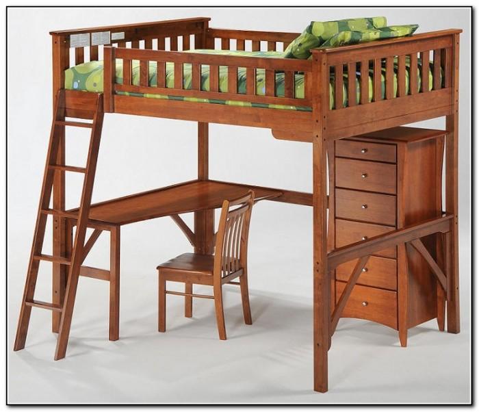 Black Wood Loft Bed Beds Home Design Ideas