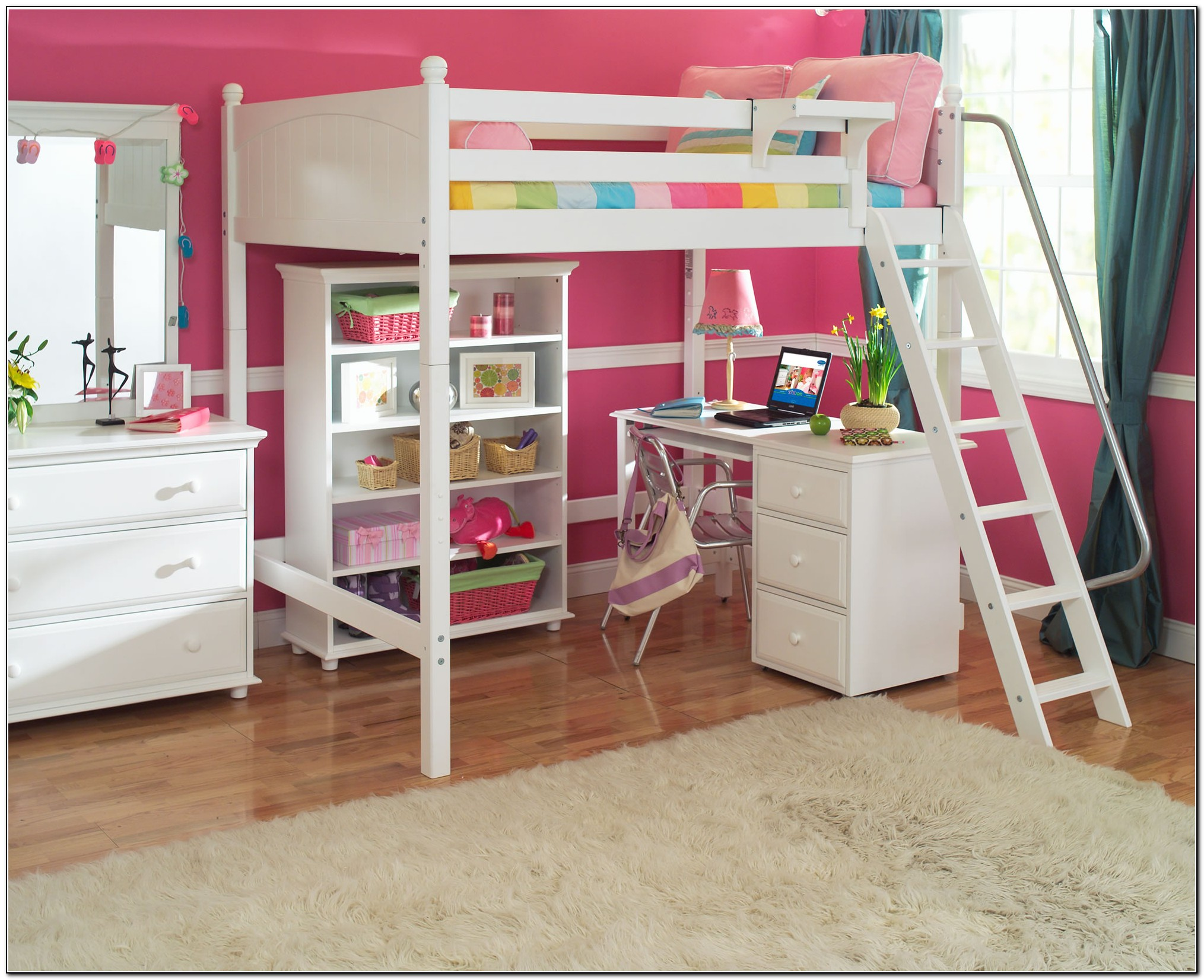Full Loft Bed With Desk