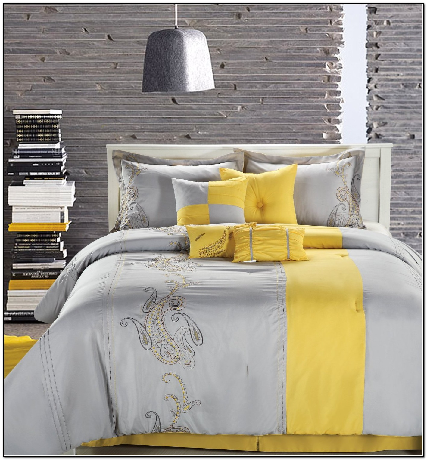 Gray and yellow bedding pinterest download page home Grey and yellow bedroom ideas pinterest