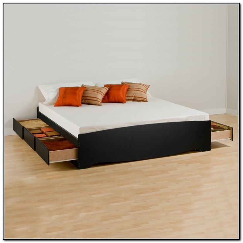 King bed frame with drawers underneath beds home design ideas k2dwreenl36033 - Futon with drawers underneath ...