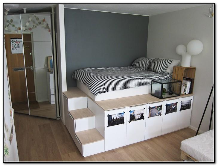 King Size Platform Bed Plans With Storage