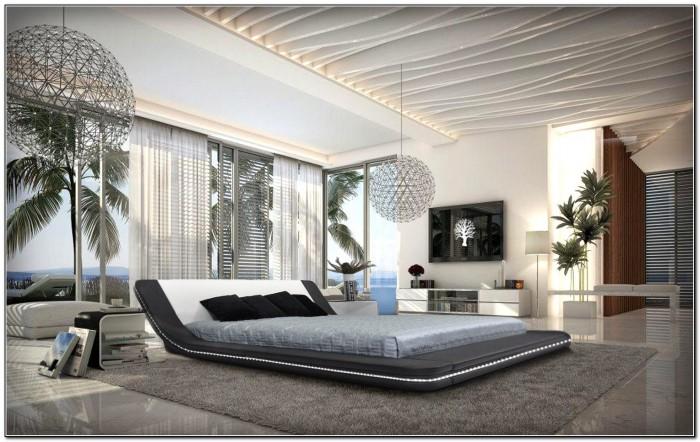 Modern Platform Bed With Led Lights
