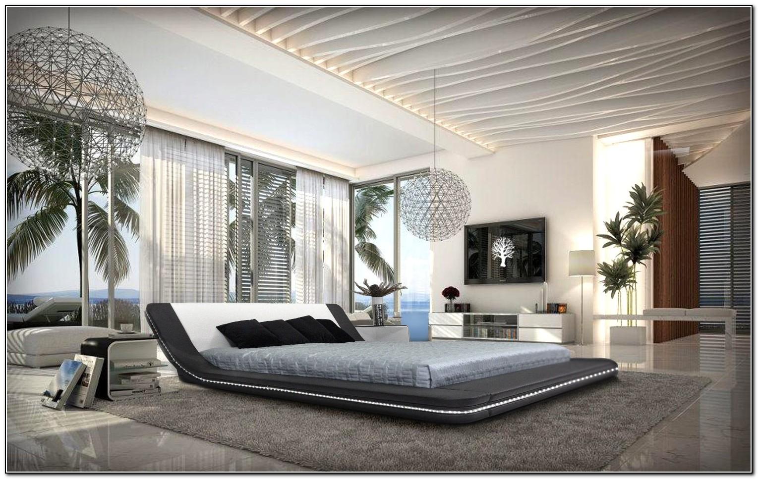 Modern Platform Bed With Led Lights Beds Home Design