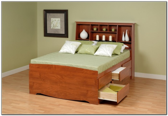 Queen Size Beds With Drawers