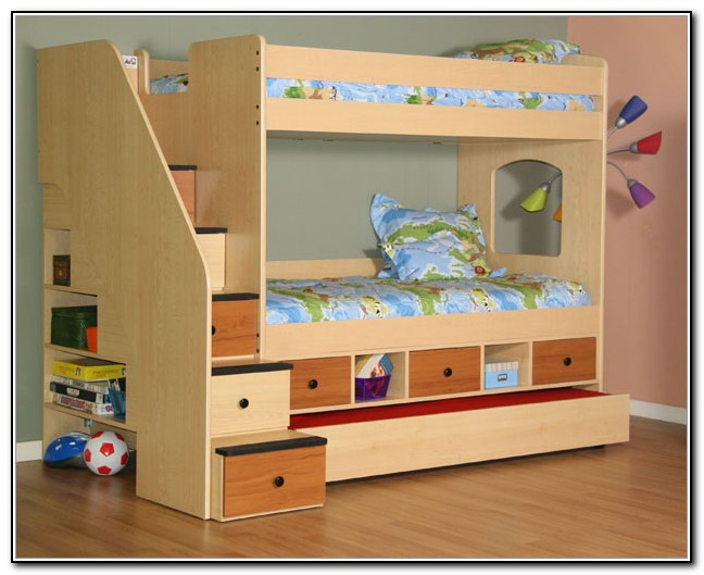 Twin Bunk Beds With Storage