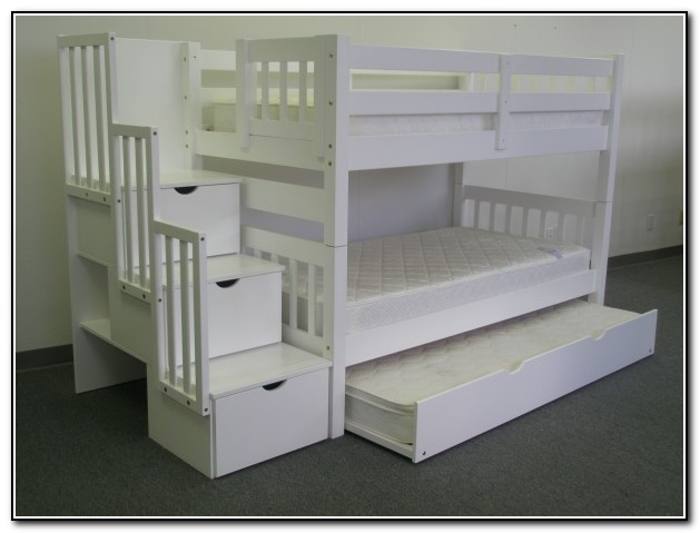 Twin Bunk Beds With Trundle White