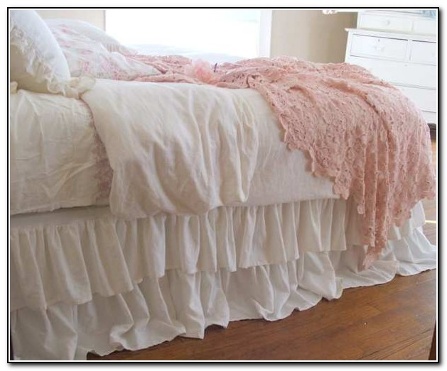 White Twin Bed Skirt