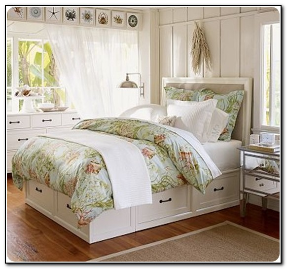 White Twin Bed With Storage Drawers Underneath