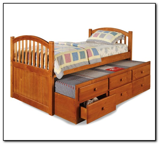 wood trundle bed frame - Wooden Trundle Bed Frame