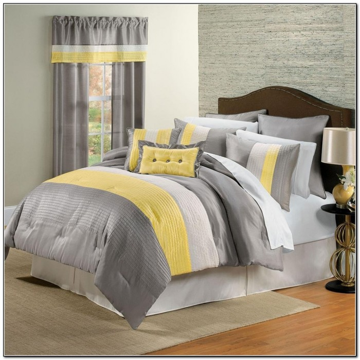 Yellow And Gray Bedding Target