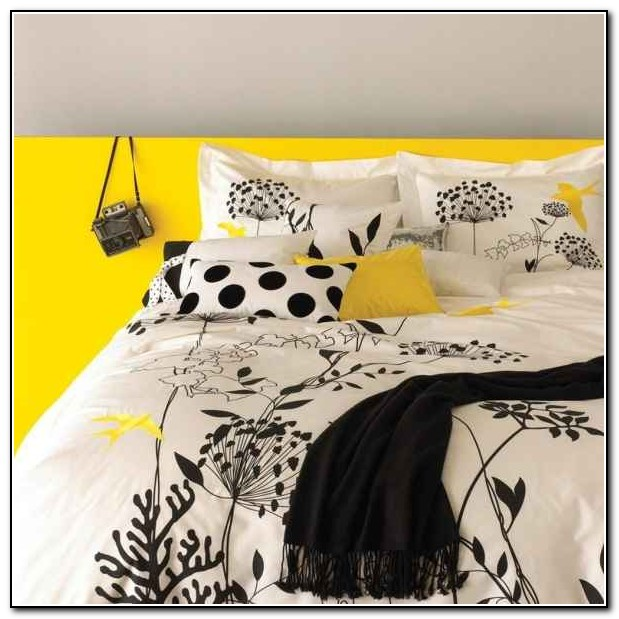 Black Yellow And Grey Bedding