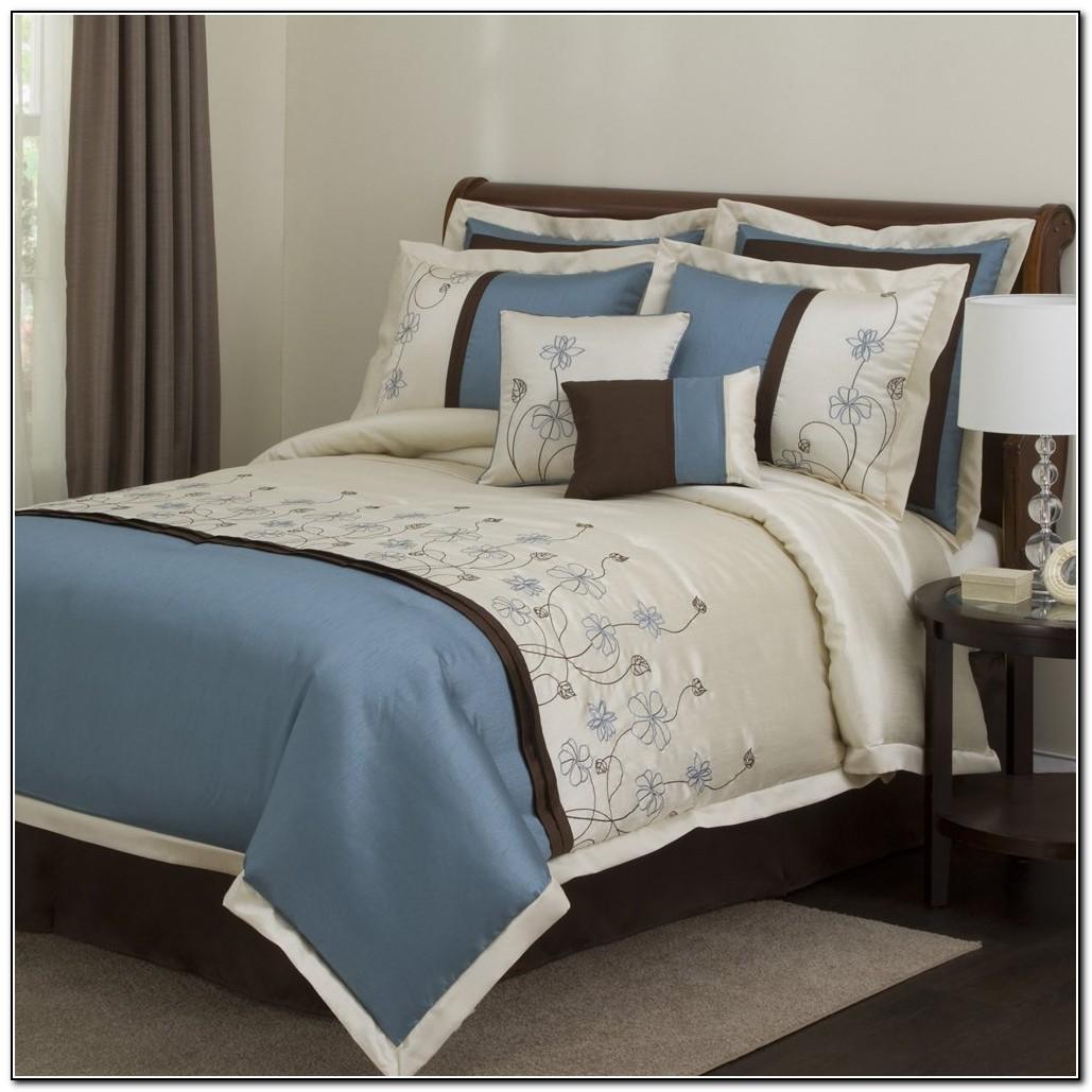 Blue Comforter Set Aqua Blue Comforter Sets Blue Brown