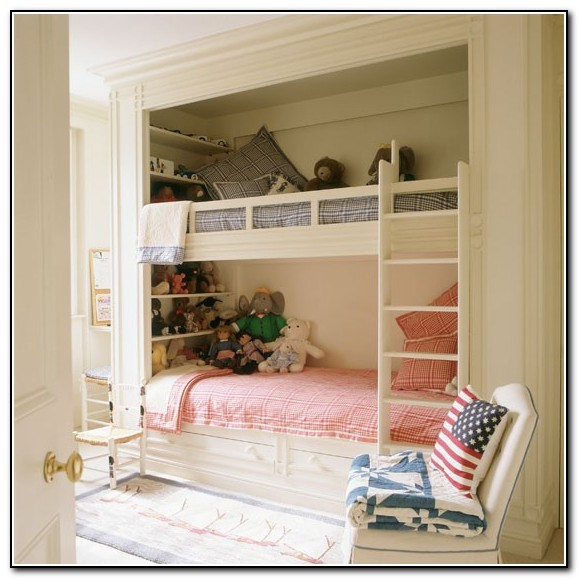 Built In Bunk Beds For Small Rooms Beds Home Design