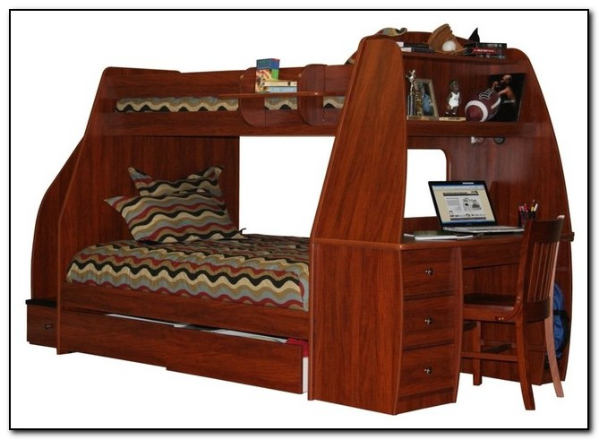 bunk bed with trundle desk and drawers desk home