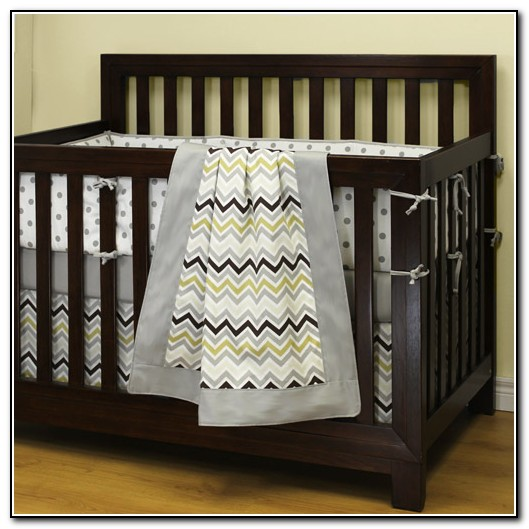 Chevron Crib Bedding For Boy