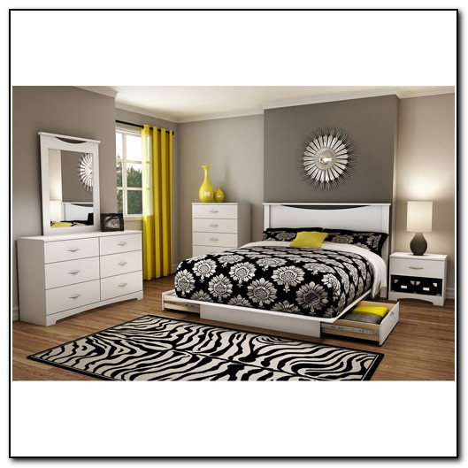 Full Size Platform Bed Frame With Drawers