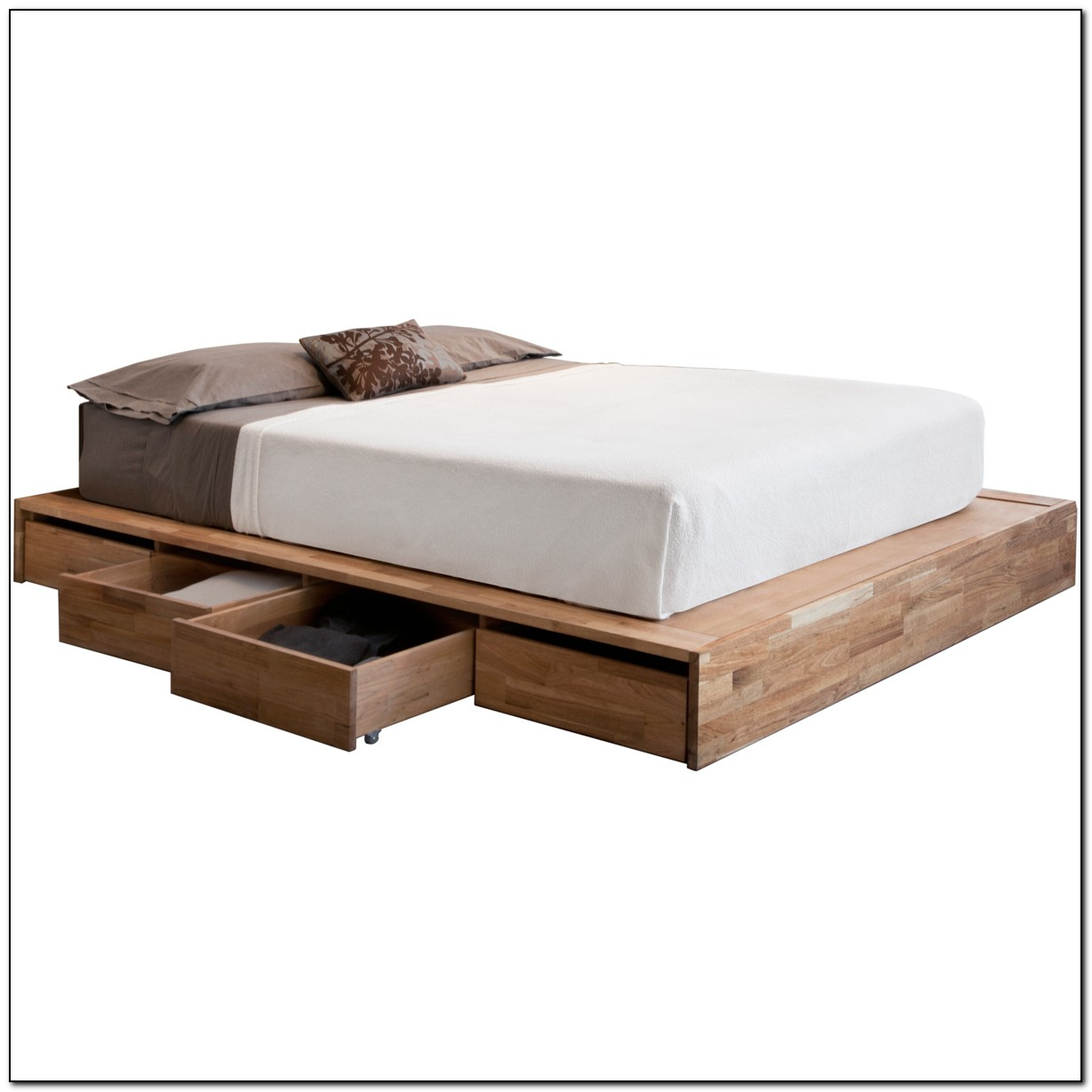 Full Size Platform Bed With Drawers Beds Home Design