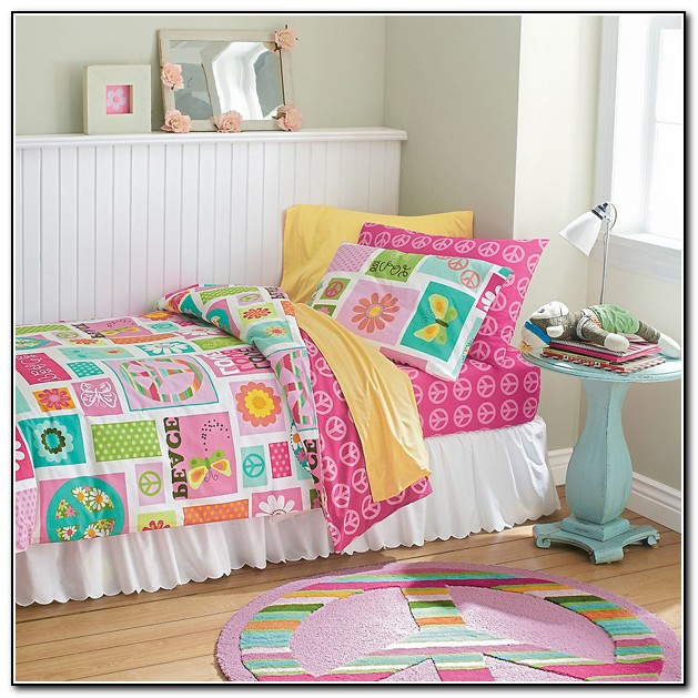 Girls Peace Sign Bedding Download Page