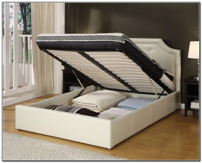 King Platform Bed Frame With Drawers