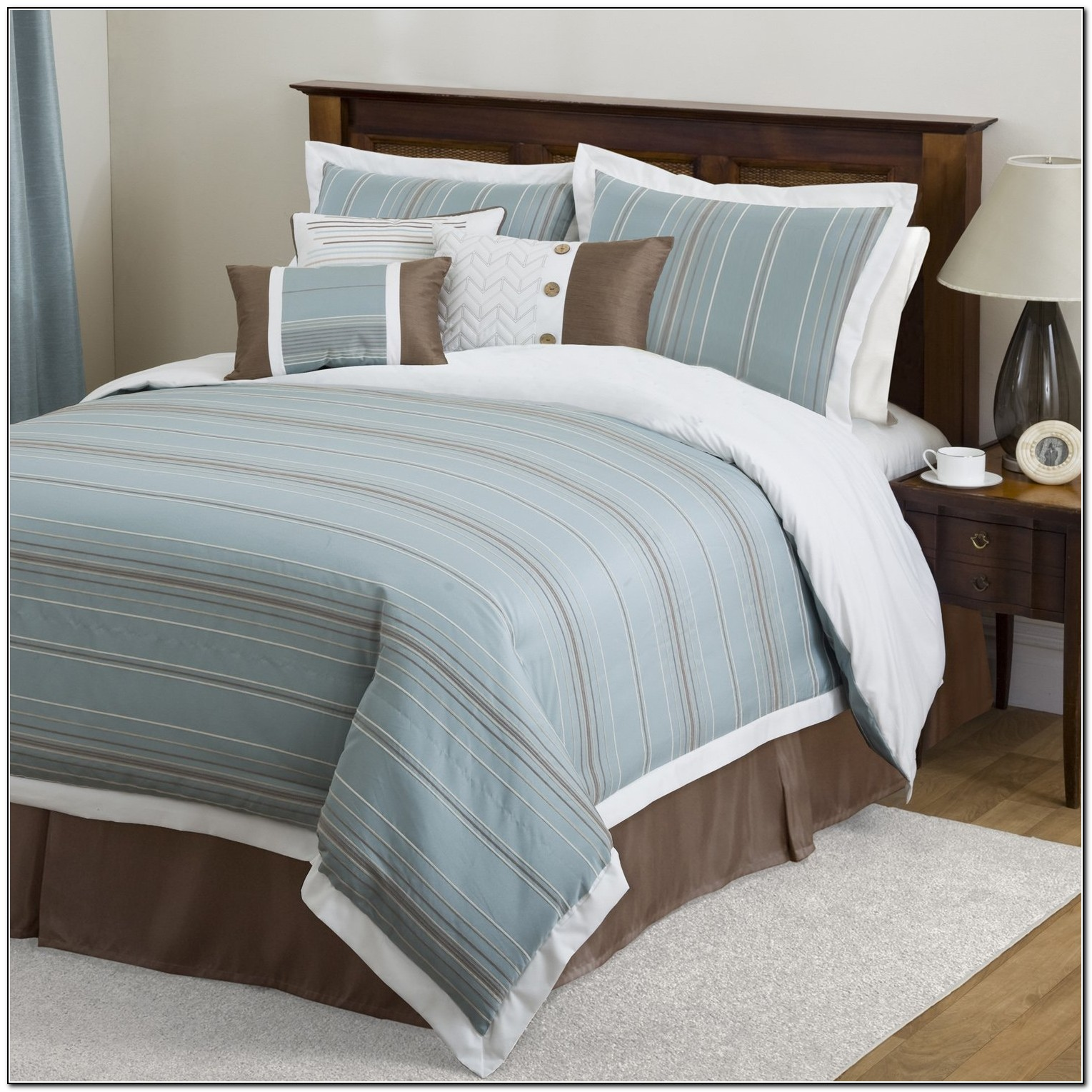 Light Blue And Brown Bedding Beds Home Design Ideas