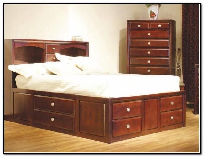 Platform bed with storage plans beds home design ideas for Platform storage bed plans